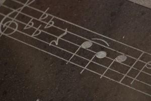 music on sidewalk